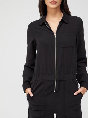 Very Isla Soft TouchDenim Jumpsuit - Black