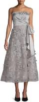 Marchesa Sleeveless Tea-Length Gown