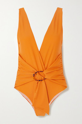 Johanna Ortiz Papaya Land Belted Swimsuit - Bright orange