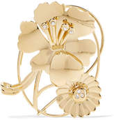 J.W.Anderson Gold-plated Crystal Ear Cuff - one size