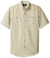 G.H. Bass Men's Short Sleeve Fancy Explorer Small Plaid Shirt