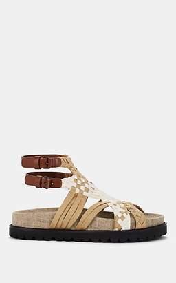 Alberta Ferretti Women's Braided Ribbon Sandals - White