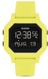 Nixon Siren Rubber Strap Watch, 33mm x 38mm