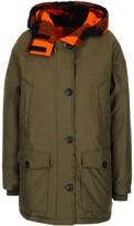 Woolrich Checked Hood Short Parka Coat