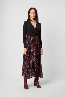 French Connection Armo Mix Jersey Check Dress