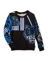 Kenzo Long-Sleeve Logo Tiger Sweatshirt, Size 4-6