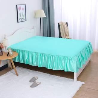 Piccocasa PiccoCasa 14 inch Satin Silk Bed Skirt for Twin Size Bed