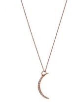 Andrea Fohrman Rose Gold Crescent Moon Necklace