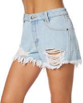 RVCA New Women's The Boyfriend Short Cotton Grey