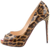 Christian Louboutin Spiked Leopard Pumps