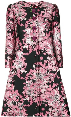 Dolce & Gabbana Floral Embroidered Tailored Coat
