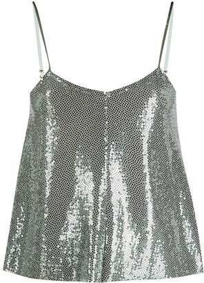 Forte Forte Metallic Paillettes Cami Top