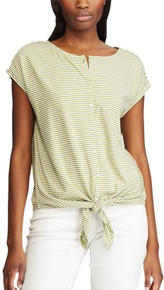 Chaps Women's Knit Button-Front Top