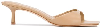 Studio Amelia Square-Toe Slip-On Sandals
