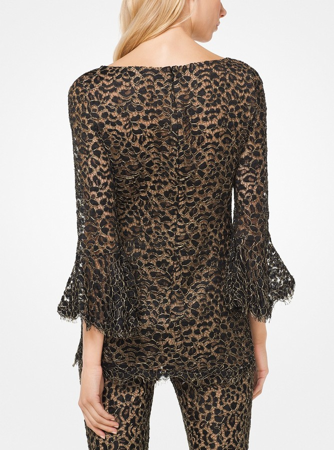 Michael Kors Corded Lace Bell-Cuff Tunic