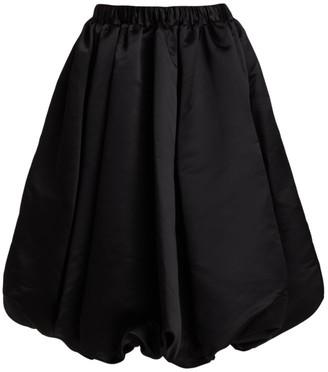 Comme des Garcons Satin Bubble-Hem Midi Skirt
