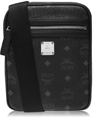 MCM Visetos Crossbody Zip Top Bag