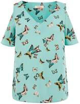 Oasis BUTTERFLY COLD SHOULDER TOP