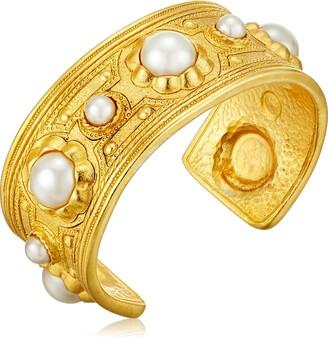 Ben-Amun Jewelry Spring Blush Gold with Stones Link Bracelet