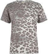 River Island Womens Brown leopard print boyfriend T-shirt