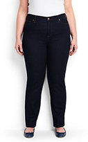 Classic Women's Plus Size High Rise Straight Leg Jeans-Dark Indigo Wash