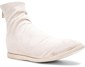 Guidi Kangaroo Suede Boots in White | FWRD