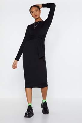Nasty Gal Womens Time to Waist Midi Dress - black - 6