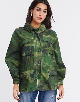 Free People lightweight jacket in camo