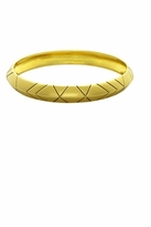House Of Harlow Thick Stack Bangle in Yellow Gold