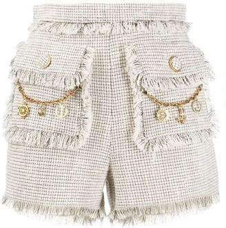 Elisabetta Franchi High-Rise Tweed Shorts