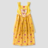 Disney Princess Girls' Disney Princess Nightgown - Yellow