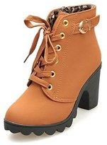 CHNHIRA Womens High Heel Martin Ankle Boots(US7.5,)