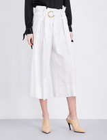Sharon Wauchob Ruched wide high-rise cotton trousers