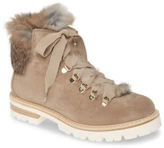AGL Genuine Rabbit Fur Hiker Boot
