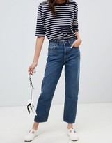Asos Design DESIGN Recycled Florence authentic straight leg jeans in london blue wash