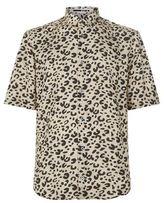 McQ Leopard Print Short Sleeve Shirt