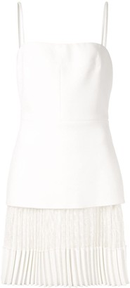 Dion Lee Pleated Lace Mini-Dress