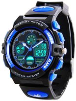 MSVEW Kids Sports Digital Watch -Boys Waterproof Outdoor Analog Watch with Alarm, Wrist Watches for Childrens
