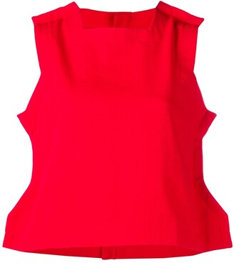 Comme des Garcons Pre-Owned sleeveless flat top