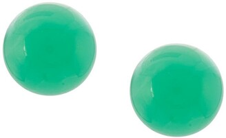 Irene Neuwirth 18kt Yellow Gold Chrysoprase Stud Earrings
