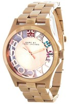 Marc by Marc Jacobs MBM3264 Rose Gold-Tone Skeleton Watch