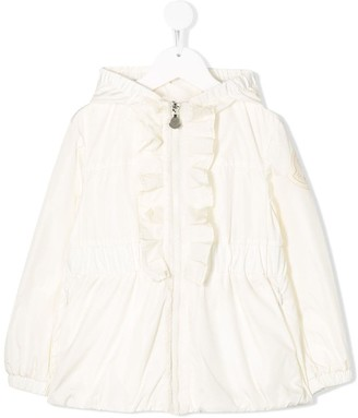 Moncler Enfant Ruffle-Trim Hooded Jacket