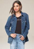 Bebe Denim Heartbreaker Jacket