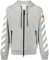 Moncler printed zip-up hoodie - men - Cotton - M