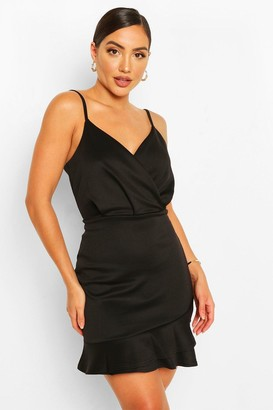 boohoo Strappy Ruffle Hem Mini Dress