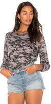 Michael Stars Camo Sweatshirt in Gray.