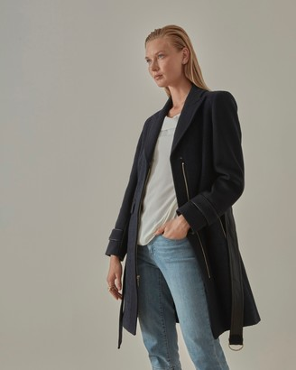 Vince Camuto Wool-Blend Belted Coat
