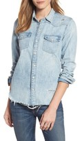 Lucky Brand Women's Studded Denim Western Shirt