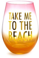 Slant Collections Take Me To The Beach Stemless Wine Glass