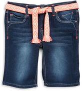 Vigoss Girls 7-16 Girls Belted Bermuda Shorts